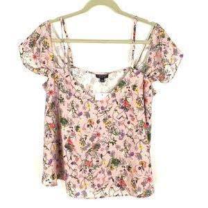 NEW Topshop Floral print blouse off the shoulder